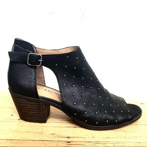 LuckyBrand Bankks Studded Open Toe Leather Bootie